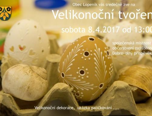 Pozvánka: Velikonoční tvoření 8.4.2017