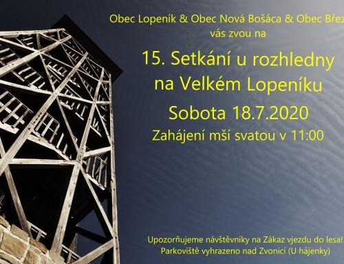 15. Setkání národů u rozhledny na Velkém Lopeníku (18.7.2020)